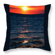 Sunset Denmark Samsoe Island Throw Pillow