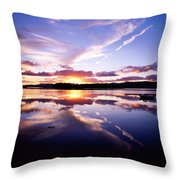 Sunset, Dinish Island Kenmare Bay Throw Pillow