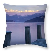 Sunset Dock Throw Pillow