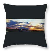 Sunset Drive Throw Pillow