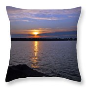 Sunset Egg Harbor Throw Pillow
