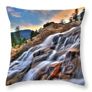 Sunset Falls Landing Throw Pillow