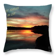 Sunset Forever My Love Throw Pillow