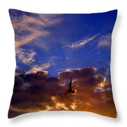 Sunset Freedom Throw Pillow