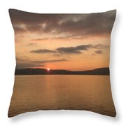 Sunset From The Train Throw Pillow