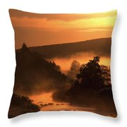 Sunset, Glendalough Glendalough, Co Throw Pillow