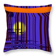 Sunset Grid Throw Pillow
