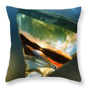 Sunset In A Glass Throw Pillow