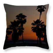 sunset in Califiornia Throw Pillow