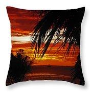Sunset In Cancun Throw Pillow