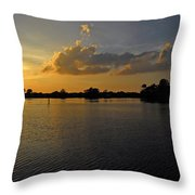Sunset In Clearwater Florida Throw Pillow
