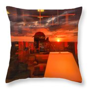 Sunset In Mckeever Lobby Throw Pillow