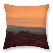 Sunset In Moab Throw Pillow
