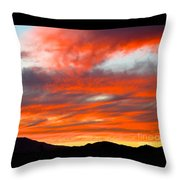 Sunset In Motion Throw Pillow