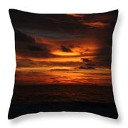 Sunset In Naples Throw Pillow