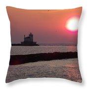 Sunset In New York Throw Pillow