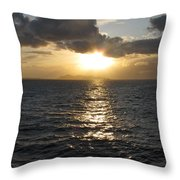Sunset In The Black Sea Throw Pillow
