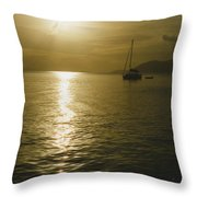 Sunset In The Bvi Throw Pillow