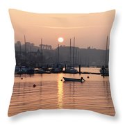 Sunset In The Harbor Crosshaven County Throw Pillow
