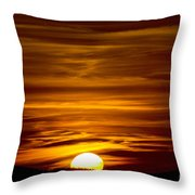 Sunset In Tuscany Throw Pillow
