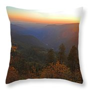 Sunset In Yosemite Throw Pillow
