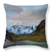Sunset Maroon Belles Throw Pillow