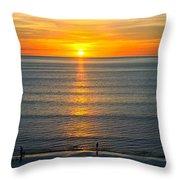 Sunset - Moana Beach - South Australia Throw Pillow