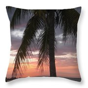 Sunset Montego Bay Throw Pillow