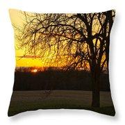 Sunset Near The Jersey Shore Throw Pillow