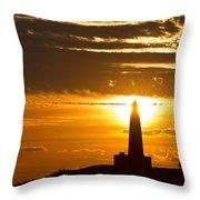 Sunset Obelisk Throw Pillow