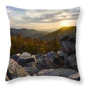 Sunset On Black Rock Mountain Throw Pillow