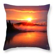 Sunset On Campobello Island  Throw Pillow