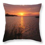 Sunset On Eagle Harbor Throw Pillow