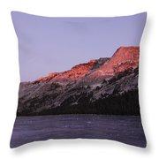 Sunset On Frozen Tenaya Lake Throw Pillow