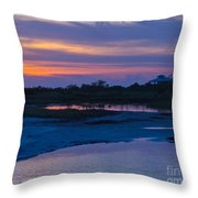 Sunset On Honeymoon Island Throw Pillow