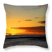 Sunset On Kauai Throw Pillow