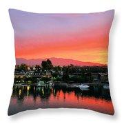 Sunset On Lake Havasu Throw Pillow