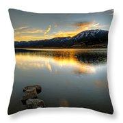 Sunset On Little Washoe Throw Pillow