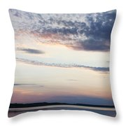 Sunset On Lovewell Throw Pillow