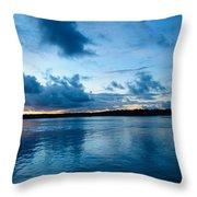 Sunset On Noosa River Throw Pillow