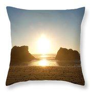 Sunset On Ruby Beach Throw Pillow