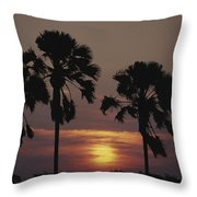 Sunset On Shire River Throw Pillow