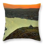 Sunset On St. John's Harbour Throw Pillow