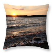 Sunset On The Bay Of Fundy Throw Pillow