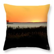 Sunset On The Chesapeake Throw Pillow