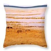Sunset On The Mud Flats Throw Pillow