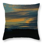 Sunset On The Old Canadian Highway Throw Pillow