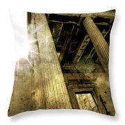 Sunset On The Parthenon Throw Pillow