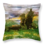 Sunset On The Road - The Highway Series Throw Pillow