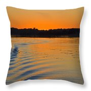 Sunset On The Sound Throw Pillow